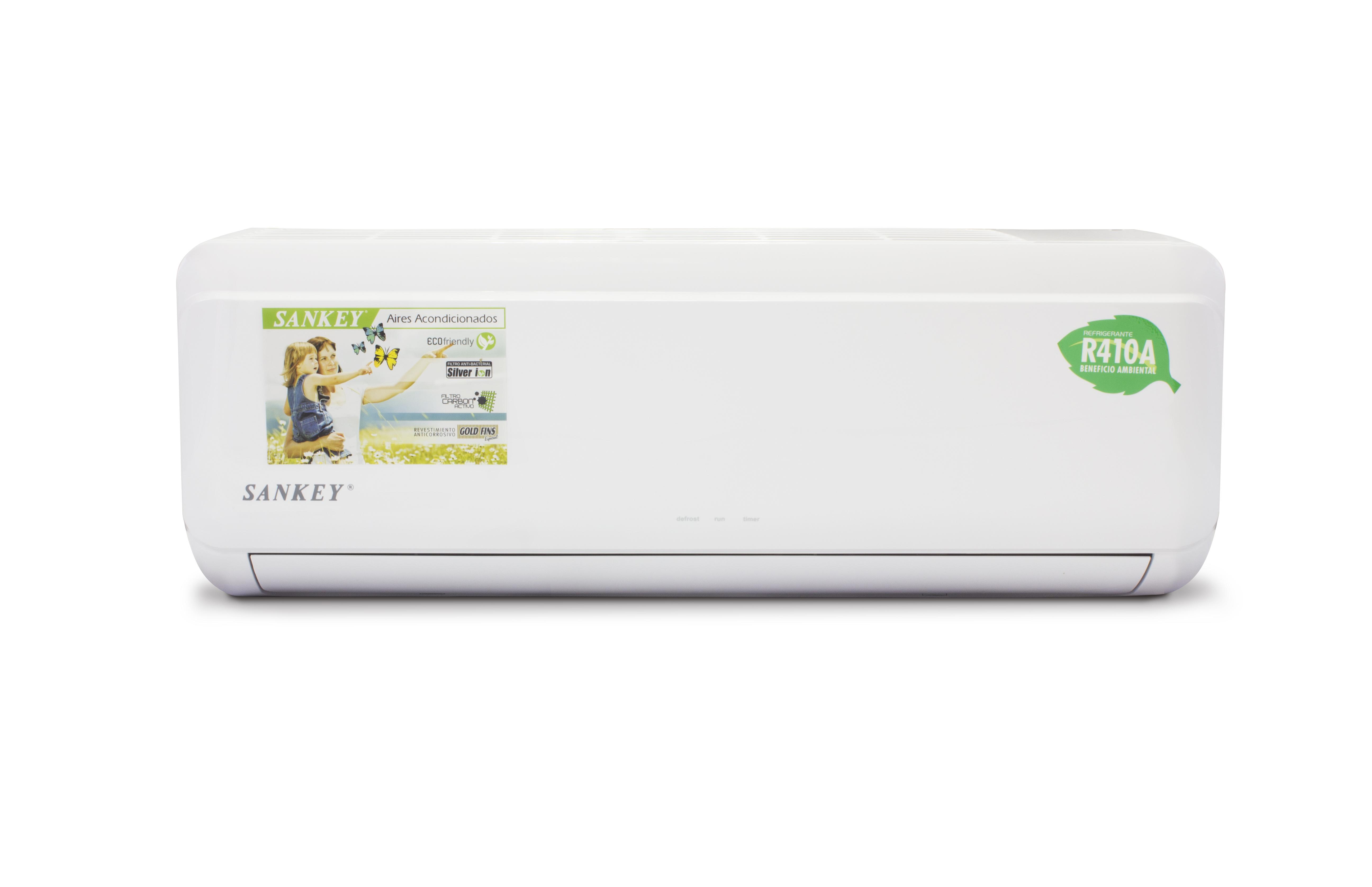 Almacenes rayco aire acondicionado split sankey es 9r410a1 for Temperatura de salida de aire acondicionado split