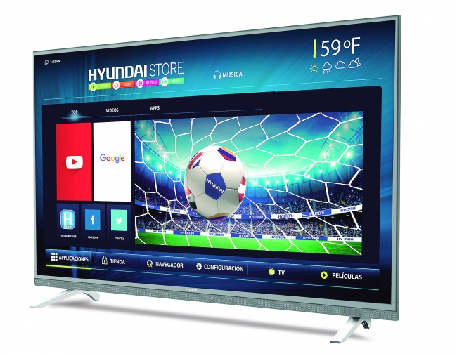 TV LED 55 SMART, UHD, ANDROID 6.0, 8GB, 20WTS, 4 P